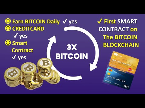 ✔️ Earn Bitcoin Daily: First SMART CONTRACT on the BITCOIN BLOCKCHAIN #Bitnamix