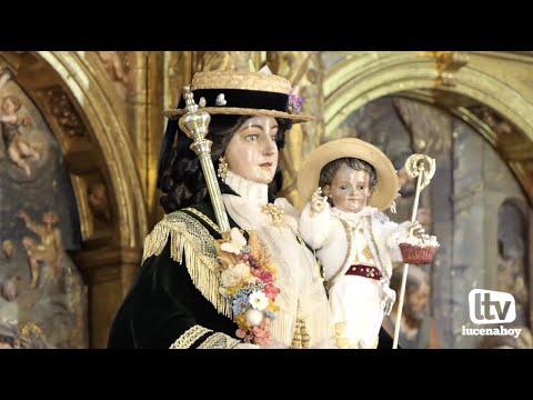 VÍDEO: La Virgen de Araceli adelanta su llegada a Lucena y baja de madrugada a San Mateo