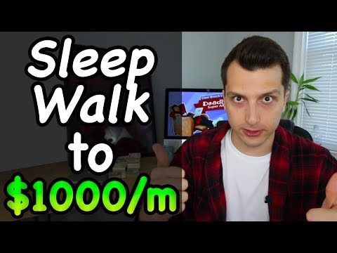 Sleep Walk To Your First $500 to $1000 per Month Online (2017)