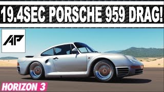 forza horizon 3   porsche 959 drag tune   19 453 second mile