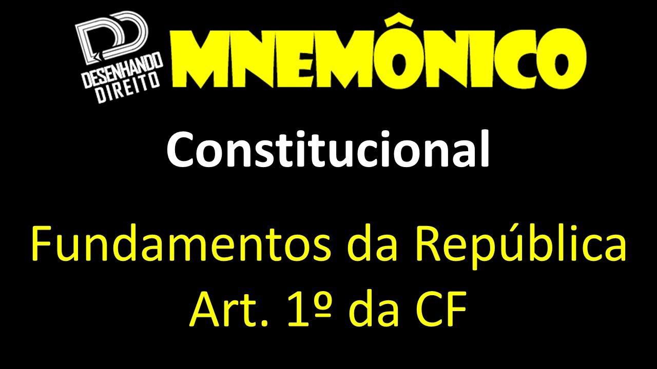 mnemônico fundamentos da república (art 1 da cf) youtube11072 Artigo 1 Da Constituicao Federal De 1988 #11