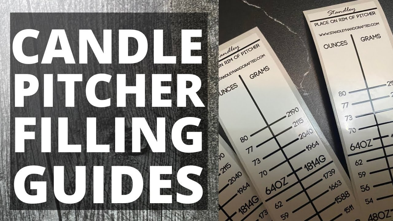 CANDLE PITCHER FILLING GUIDES: Best way to measure melted wax from a Presto pot melter