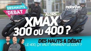 Choc entre le Yamaha XMAX 300 vs XMAX 400   DES HAUTS ET DEBAT