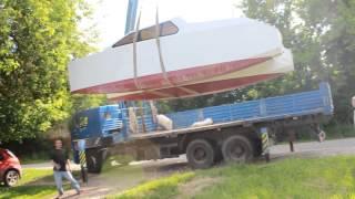 Финиш строительства и спуск на воду катамаран КУБА (WallerTC 670)