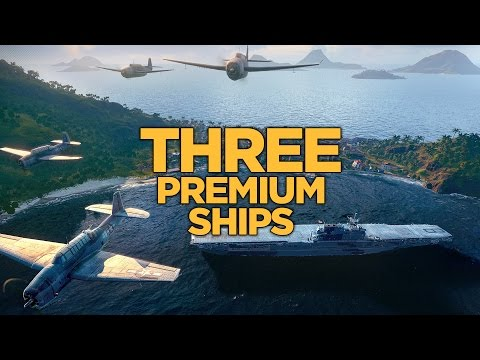 World of Warships - Three Premium Ships