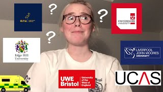 applying for a paraṁedic degree in the uk (my experience)