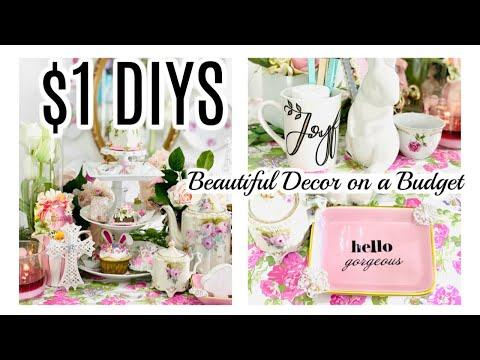 💐NEW~$1 DIY DOLLAR TREE & TRASH TO TREASURE DECOR CRAFTS 💐Let's Stay Home Ep12 Olivias Romantic Home