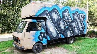 Graffitis Sur Volkswagen LT 35 Caisse Aménagé