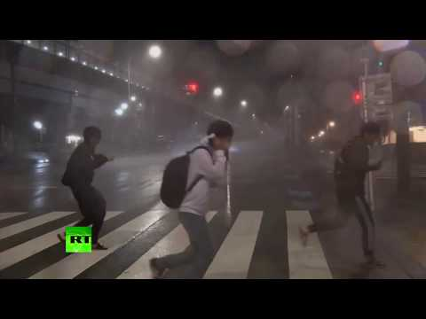 Typhoon Trami: Powerful storm hits Japan