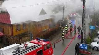 Pożar przy ul. Szkolnej, Zakopane Fire Response Poland.