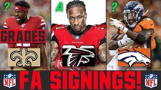 2020 NFL Free Agency Signings & Latest News | Grading NFL Free Agency Signings | Todd Gurley Falcons