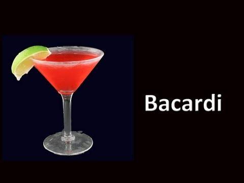 Bacardi Cocktail Daiquiri Drink Recipe HD