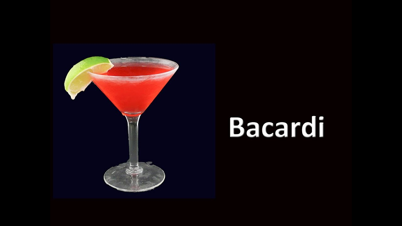 Bacardi Cocktail Daiquiri Drink Recipe HD - YouTube