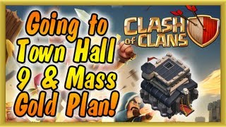 Clash of Clans - Town Hall 9 Upgrade has Begun! (Gameplay Commentary)