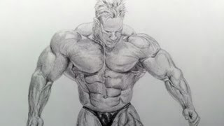 Drawing Jay Cutler - 4 time Mr. Olympia