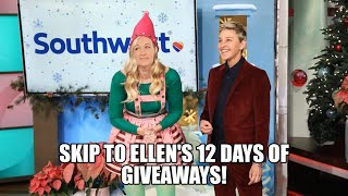 Video 7 - Skip to Ellen's 12 days of giveaways