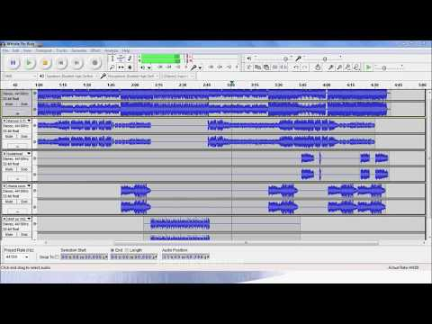 Remix Mashup song with audacity