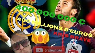 KRIS BRAVE // S'exprime sur le départ de NEYMAR au REAL MADRID pour 400 Millions d'euros !!!