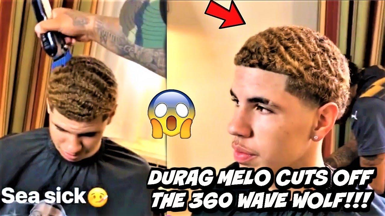 Lamelo Ball Aka Durag Melo 1st 360 Wave Haircut Live After A Major