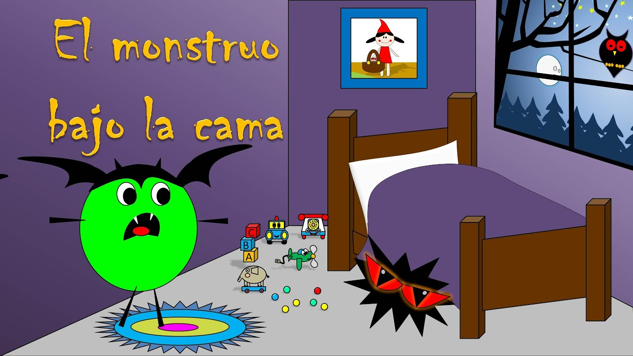 Cuento de halloween para ni os el monstruo bajo la cama - Dibujos para cabeceros de cama ...