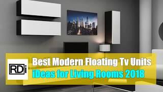 Best modern floating tv unit ideas for living room 2018