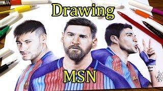 "Ballpoint pen Drawing of MSN .... Featured on ""Fox Sport"""