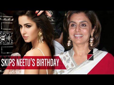 OMG!! Katrina Kaif SKIPS Neetu Kapoor's 57th Birthday Bash   Bollywood Gossip
