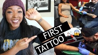 getting my first tattoo pain experience