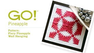 How to make the GO! Fiery Pineapple Wall Hanging with Pam