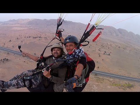 Tandem Paragliding in 360 VR Winching High Altitude