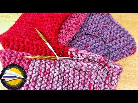 Вяжем шарф видео урок спицами