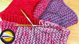 Вяжем шарф спицами | Как связать шарф за 30 минут лицевыми петлями | Вязание для начинающих