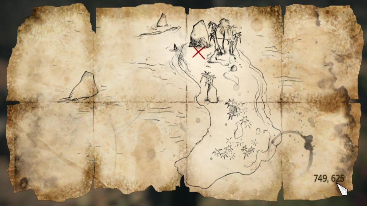 Assassins Creed Iv Black Flag Treasure Map 749 625 Youtube