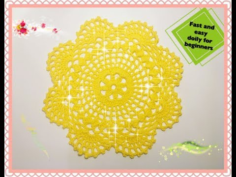 How to crochet fast and very easy doily for begginers
