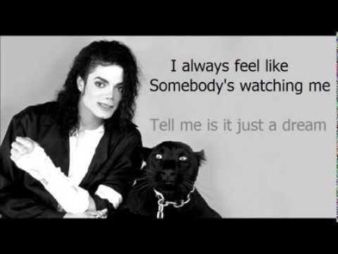 Somebody's watching me - Rockwell ft. Michael Jackson ( Lyrics Chorus )