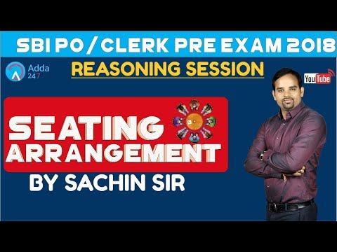 SBI PO/CLERK | Seating Arrangement for SBI PO/CLERK 2018 | Reasoning | Sachin sir