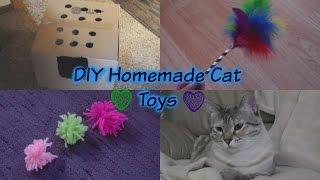 DIY Homemade Cat Toys!