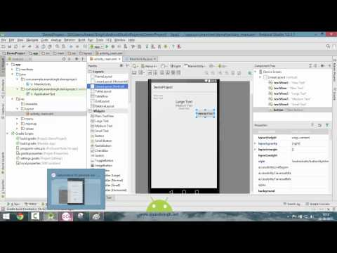 Android Studio Tutorial in Hindi (Exploring Layouts)