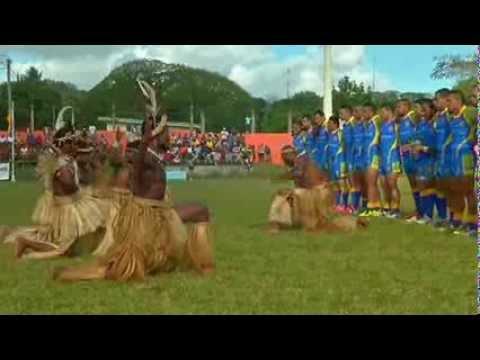 International Rugby League 2013: Niue vs Vanuatu (Pre Game ,1st Half- Part 1)