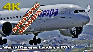 Madrid Barajas Landings (Close up) 2017 [4K]
