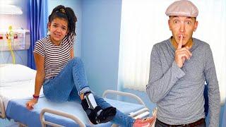 Broken Ankle PRANK on my family!