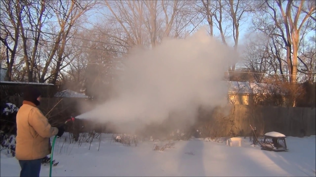 Polar Vortex Vs Hot Water Garden Hose | Different Settings