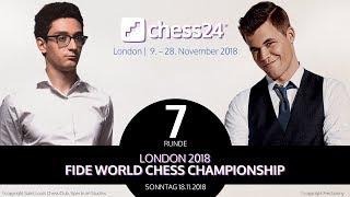 7. Partie - FIDE Schachweltmeisterschaft 2018 - Carlsen-Caruana