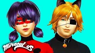 Miraculous Ladybug & Cat Noir Sims 4 (Ep 1) 🐞 Create a Sim & House Tour! Sims 4 Miraculous Ladybug