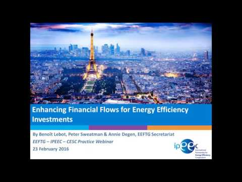 Enhancing Financial Flows for Energy Efficiency Investments
