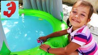 Интерактивный питомец черепашка Принцесса Мими, плавает в надувном бассейне