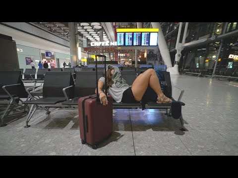 Dublin to London | BEST WAY TO SLEEP IN THE AIRPORT!
