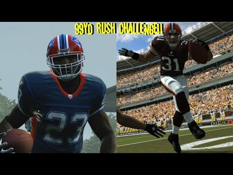 MADDEN 2009 CHALLENGE!! THROWBACK!! MARSHAWN LYNCH VS JAMAL LEWIS!! 99YD RUSHING TOUCHDOWN!!