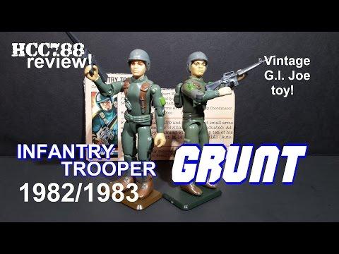 HCC788 - 1982 GRUNT - Infantry Trooper - Vintage G.I. Joe toy review! S03E21