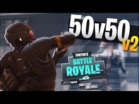 BACK TO BACK 24 KILL WINS! 50v50 V2 Gameplay (Fortnite Battle Royale)